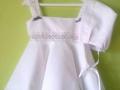 vestido con capota blanco, vestido niña con capota, vestido y capota de piqué blanco, ropa infantil, moda verano niños, tienda de ropa infantil online