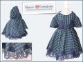 vestido de niña con cuadros escoceses y puntillas, vestido cuadros azules para niña, tienda online ropa de niño, ropa infantil online, moda exclusiva infantil online blanco y entredoses
