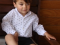 camisa para niño cuello mao, camisa de estrellas niño