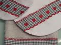 Regalos originales para recien nacido, set de toalla, babero y bolsita,blanco y entredoses