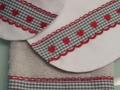 Regalos originales para recién nacido, set de toalla, babero y bolsita,blanco y entredoses