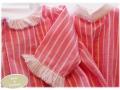 conjunto para hermanos, camisa y vestido a juego rosa y rayas blancas, blanco y entredoses