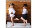 Jesusito blanco de plumeti, camisa de estrellas para niño y pantalón corto niño.jpg