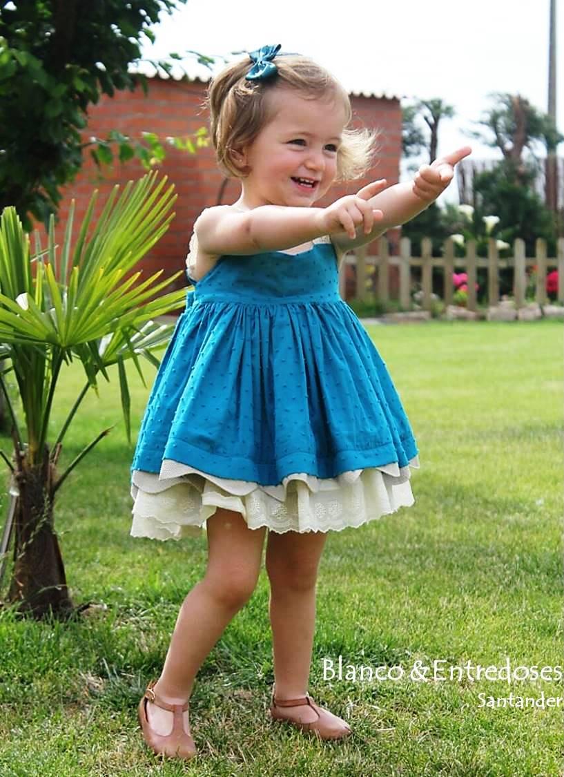 da3529ac68 vestido de plumeti azul