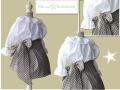 ropa basada en el principito, vestido de niña con estrellas, blanco y entredoses, ropa de niña online