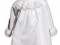 jesusito de plumeti blanco, vestido para niña de plumeti, tienda de ropa infantil online, venta de ropa de niño online, vestido y braguita blanco para niña
