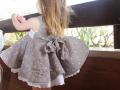 vestido cuadros de vichy con lazada a la espalda, vestido de niña con vuelo