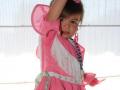 Rebeca vestida de sevillana, vestido de sevillana para niños, blanco y entredoses