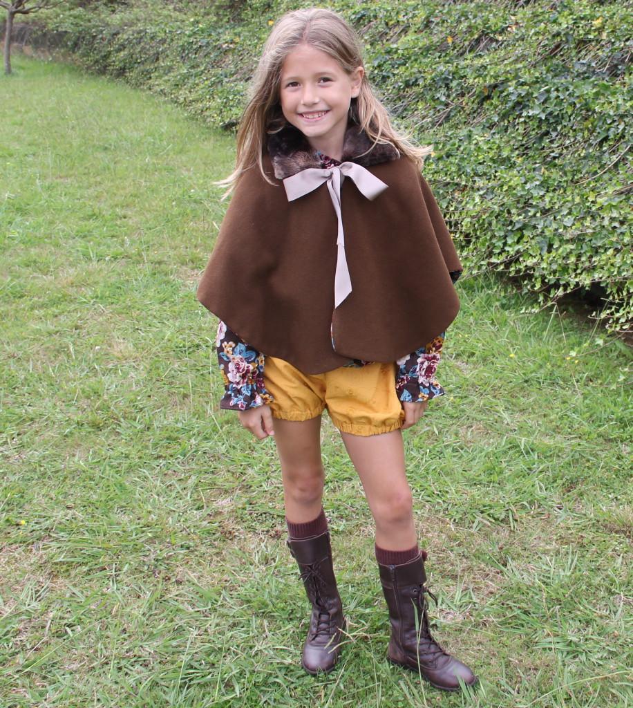 Bermudas para niñas, bombacho corto niña, short invierno mostaza niña, ropa infantil niña, ropa mostaza invierno niña