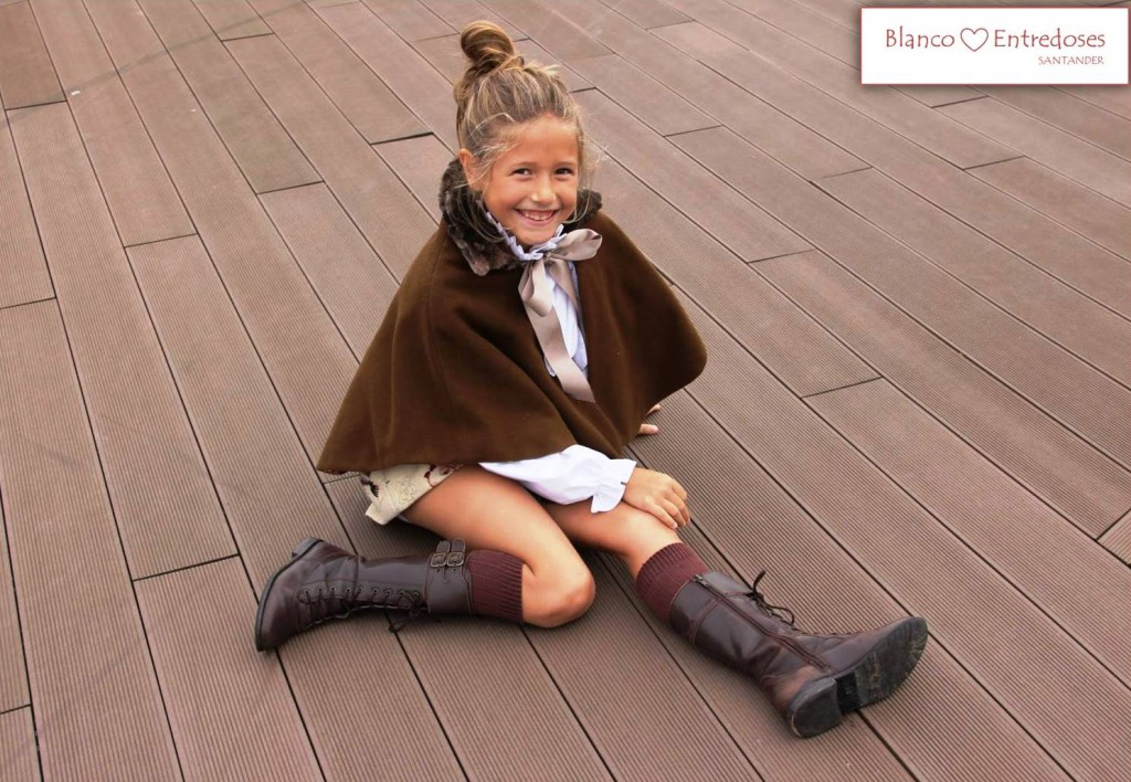 capa de invierno reversible para niña