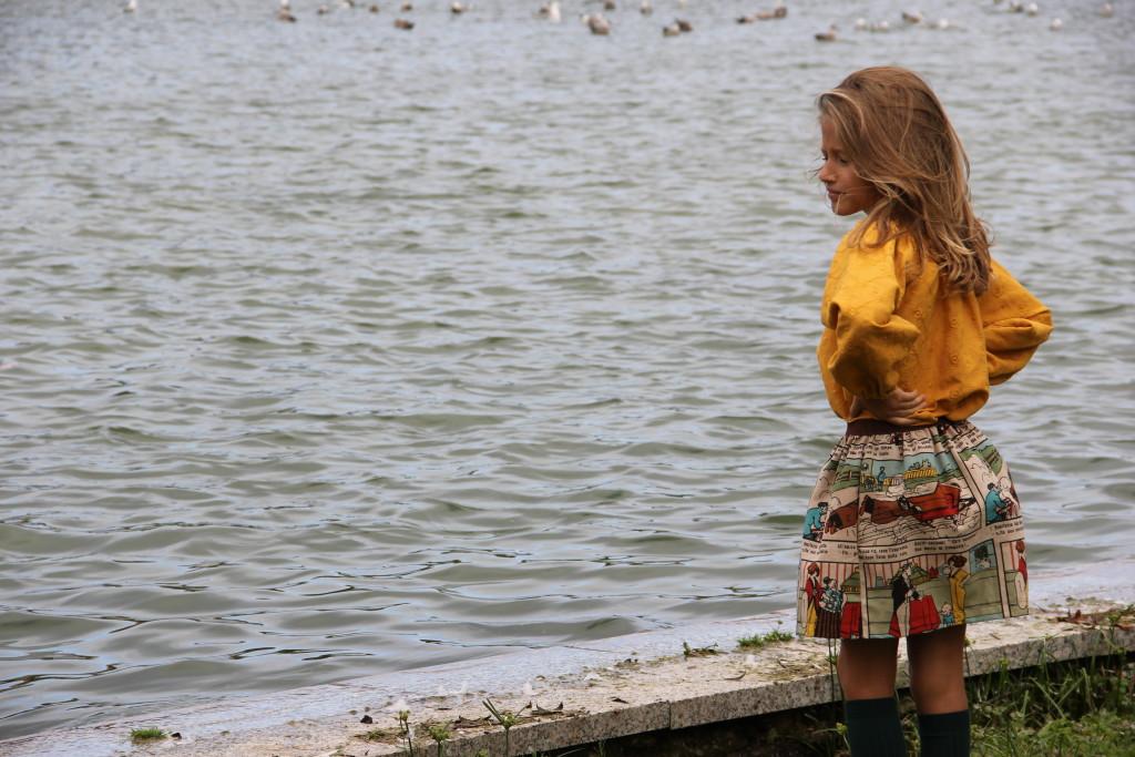 moda infantil online, ropa de niña online, ropa de niña santander, falda de comic, moda otoño 2015, ropa de niña
