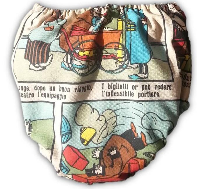 braguita de bebe original, cubrepañal de colores, cubrepañal con dibujos, braguita de bebe comic, ranita de comic bebe, ropa comic niños, tienda online moda infantil