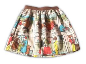 falda de comic para niña