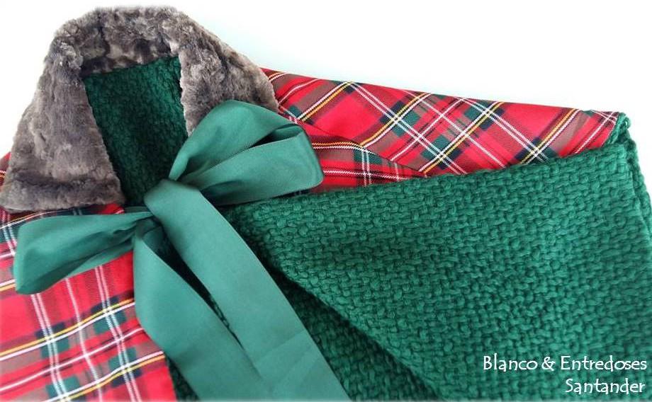 Capa de niña Santander, capa tartan niña, capa verde para niña, tienda online