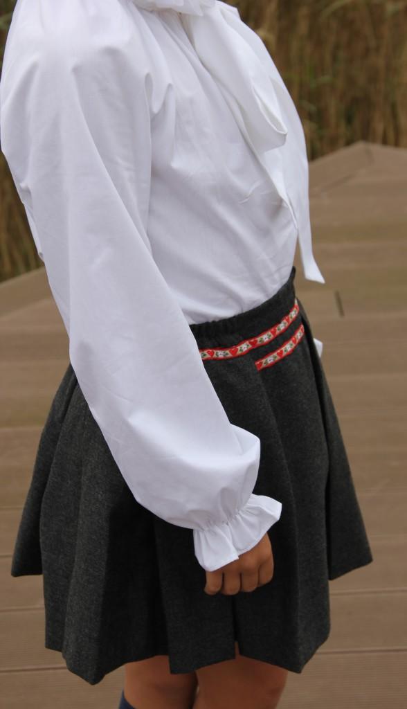 Falda austriaca gris,