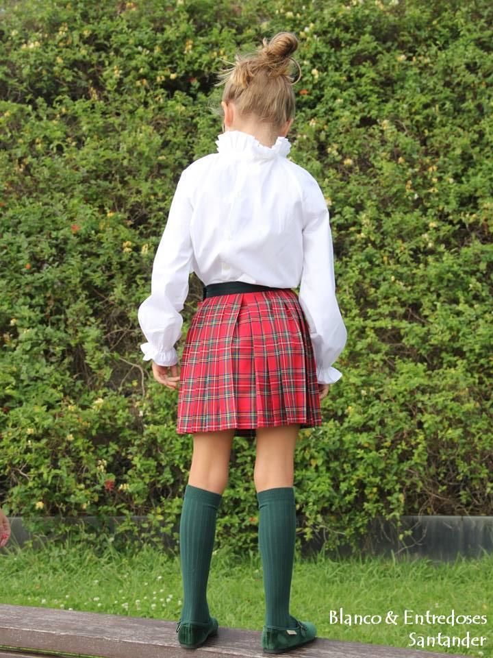 Falda escocesa plisada, falda de tartan para niña online