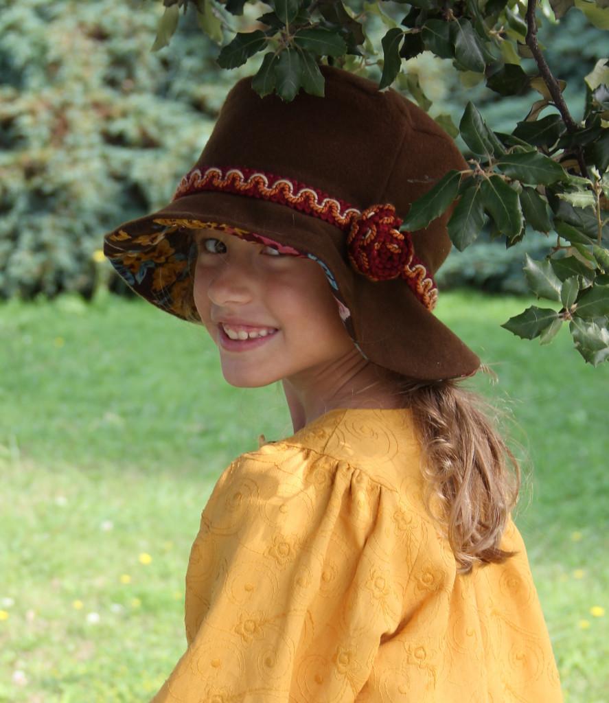 sombrero de niña invierno