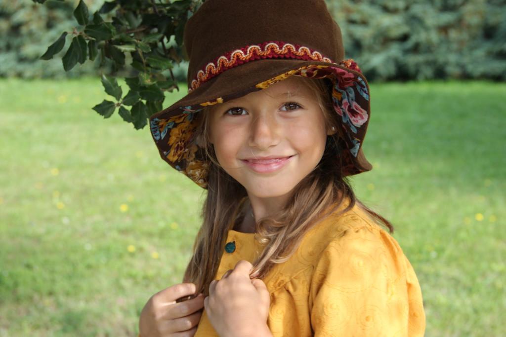 sombrero reversible invierno para niña