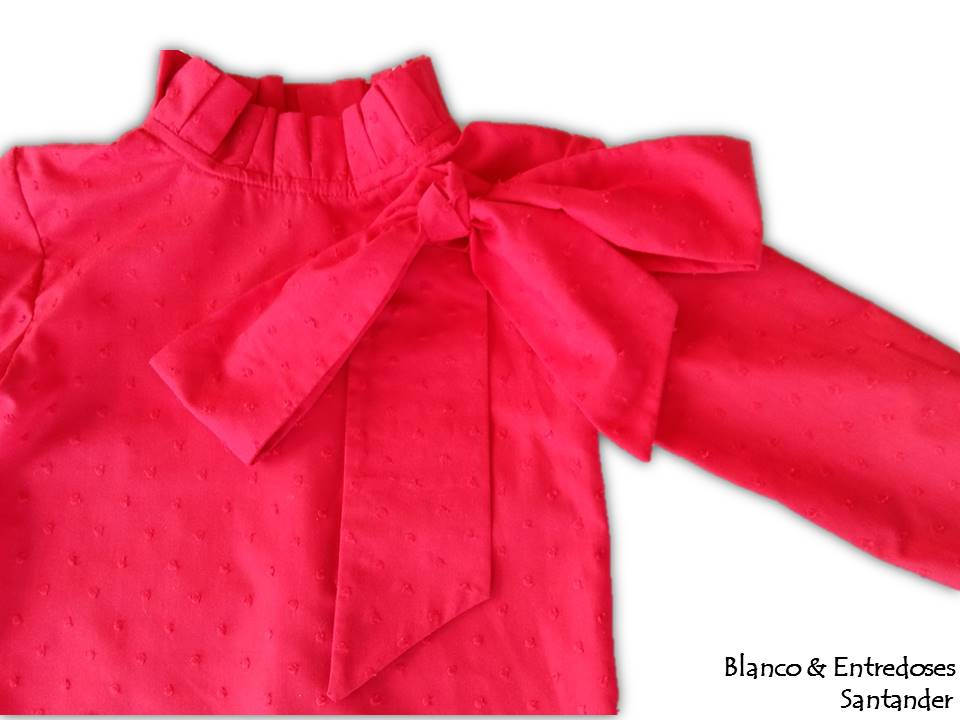 blusa de plumeti rojo para niña, camisa de niña plumeti online