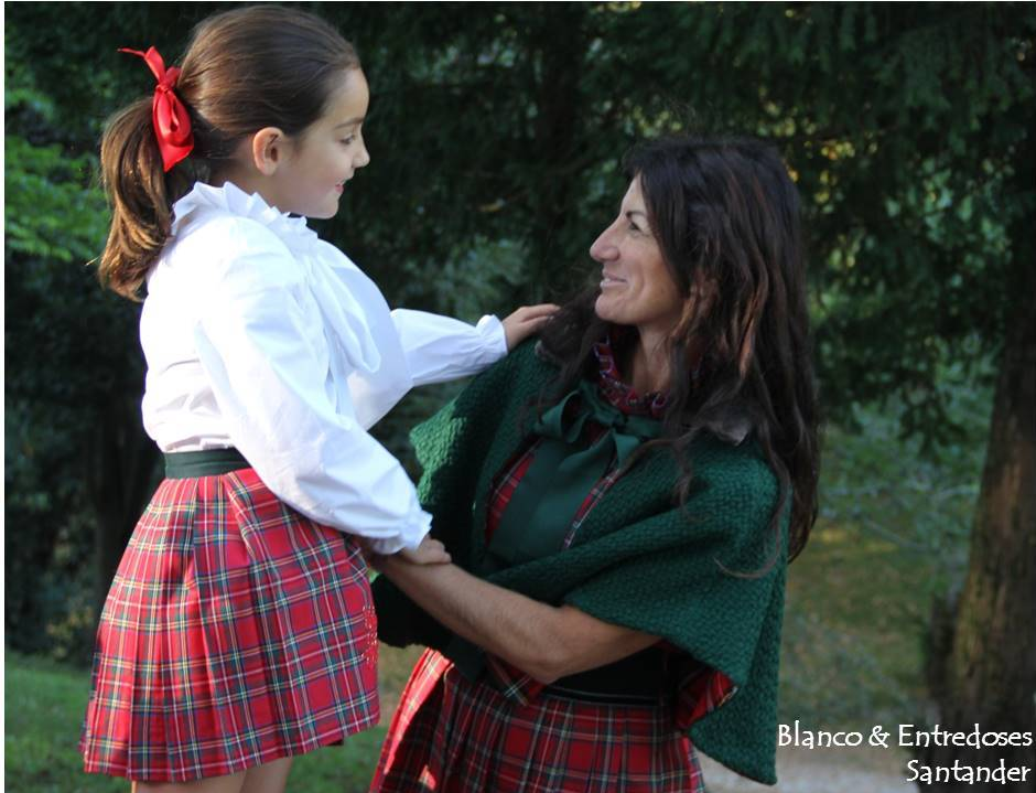 moda minime, falda para madre e hija cuadros, moda cuadros escoceses