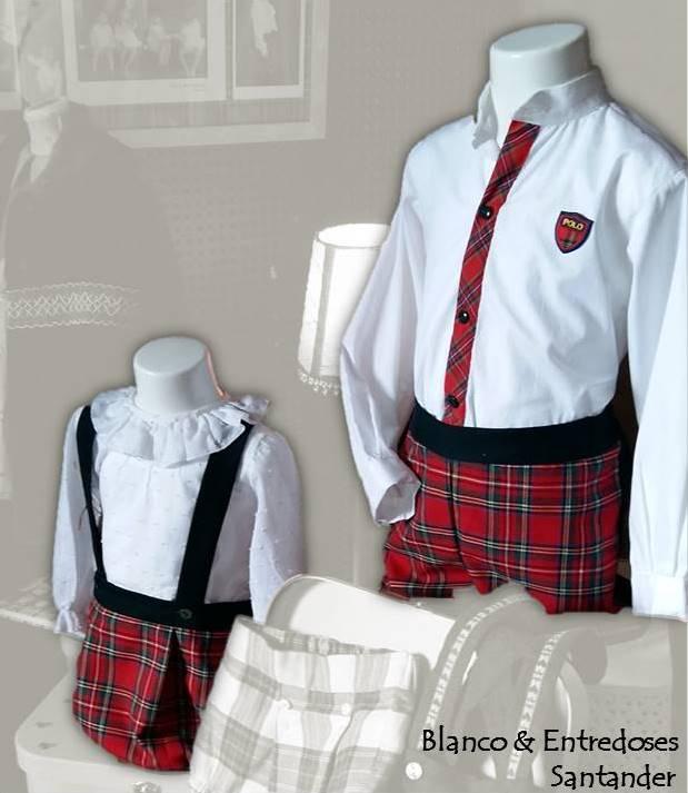 ropa de niño tartan, moda niño cuadros escoceses, ropa de niño online