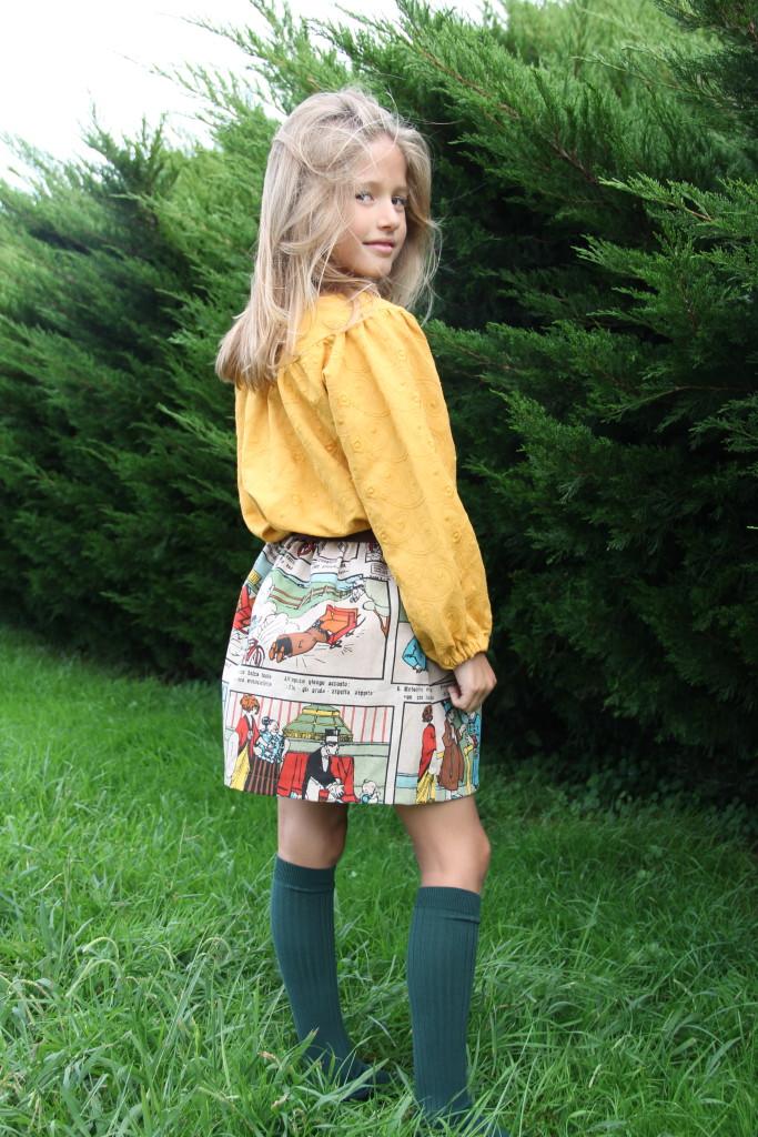 falda de comic para niña online