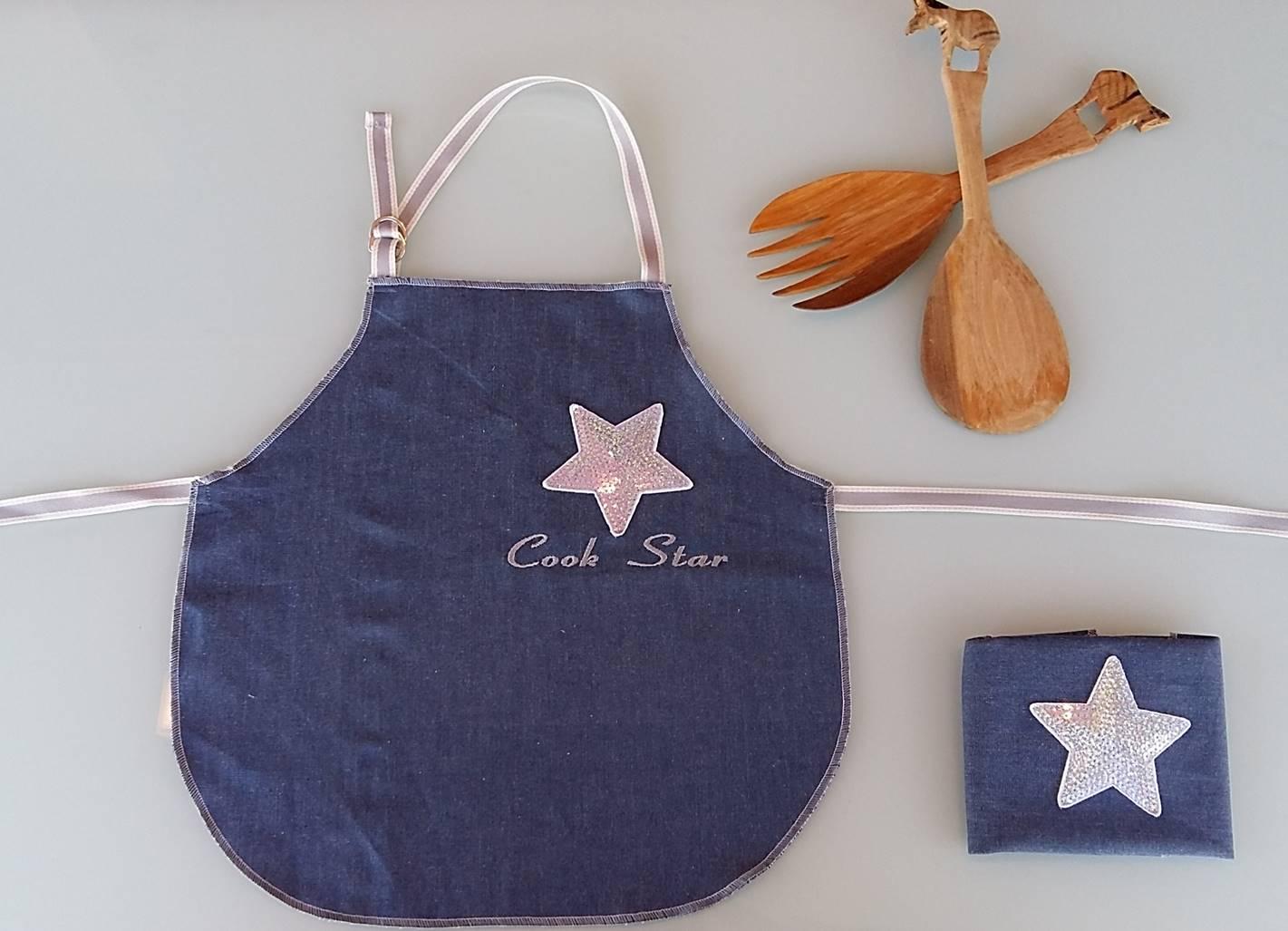 b32372189b6 Delantal Vaquero Bordado Cook Star · delantal para niños, delantales  infantiles, delantal de estrellas, delantales originales, delantales  personalizados