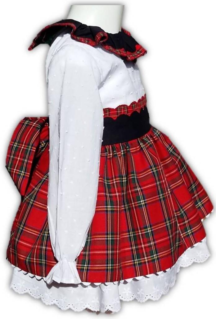 vestido de tartan para niña