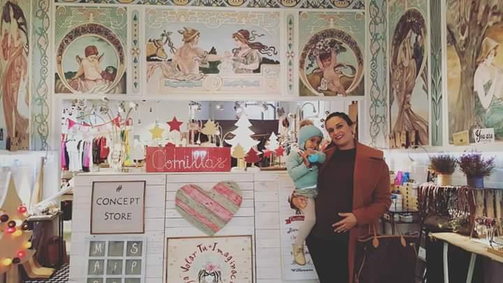 La preciosa Jenny, blogger de Mypetitpleasures también ha venido a visitarnos