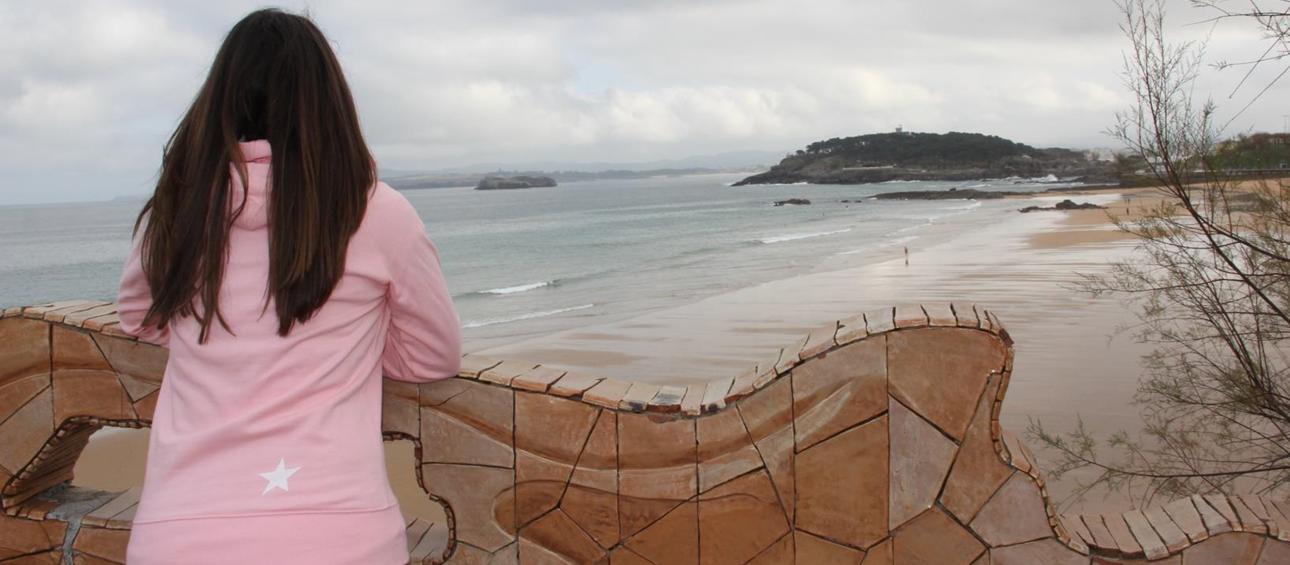 sudadera sardilover rosa chica detrás, sudaderas para chica santander y online, moda infantil exclusiva