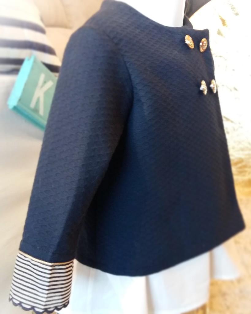 chaqueta marinera para niña, chaqueta azul marino niña, blazer niña 2016, tienda online moda niña