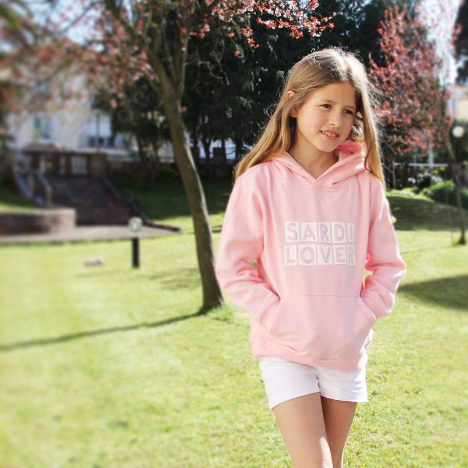 Sudadera  Sardi lover rosa, sudaderas niñas online
