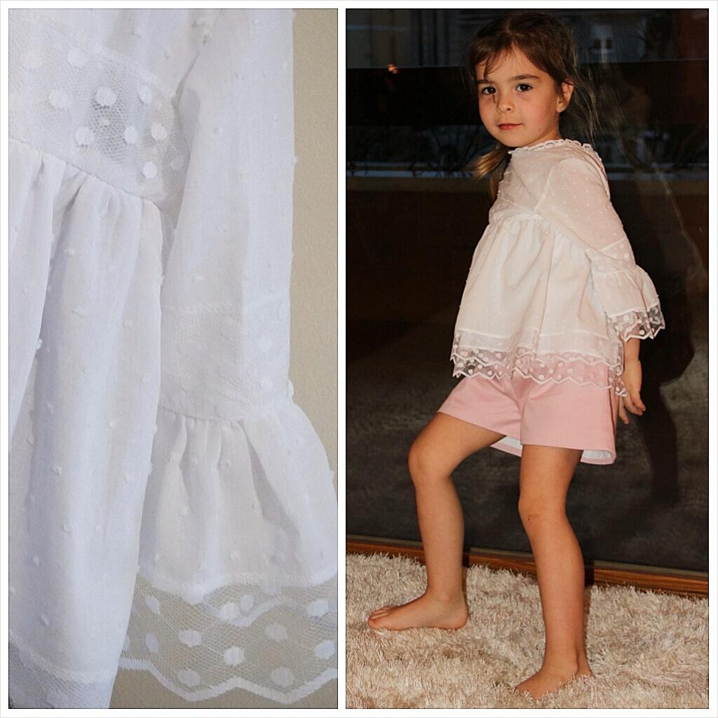 camisa de plumeti niña, blusa manga acampanada niña, blusa de plumeti niña online (2)