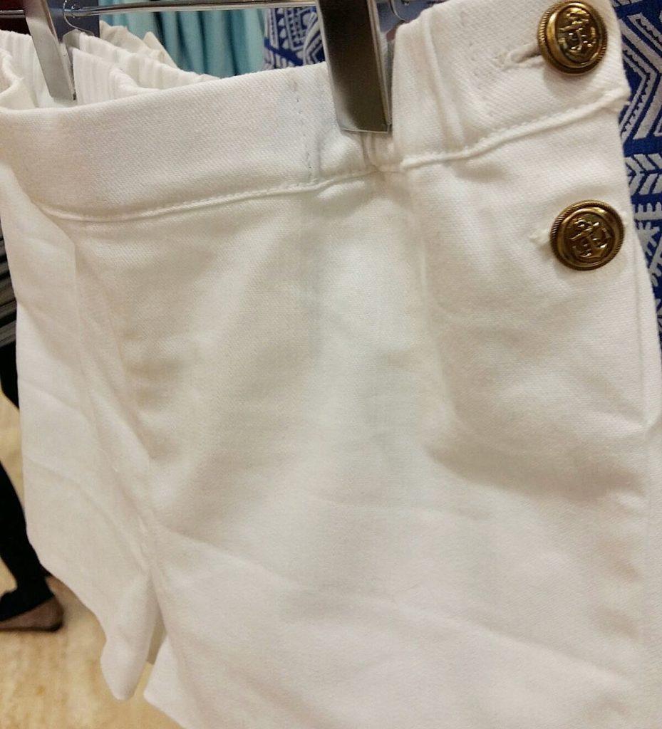 pantalon marinero niña, short blanco niña online, short marinero niña