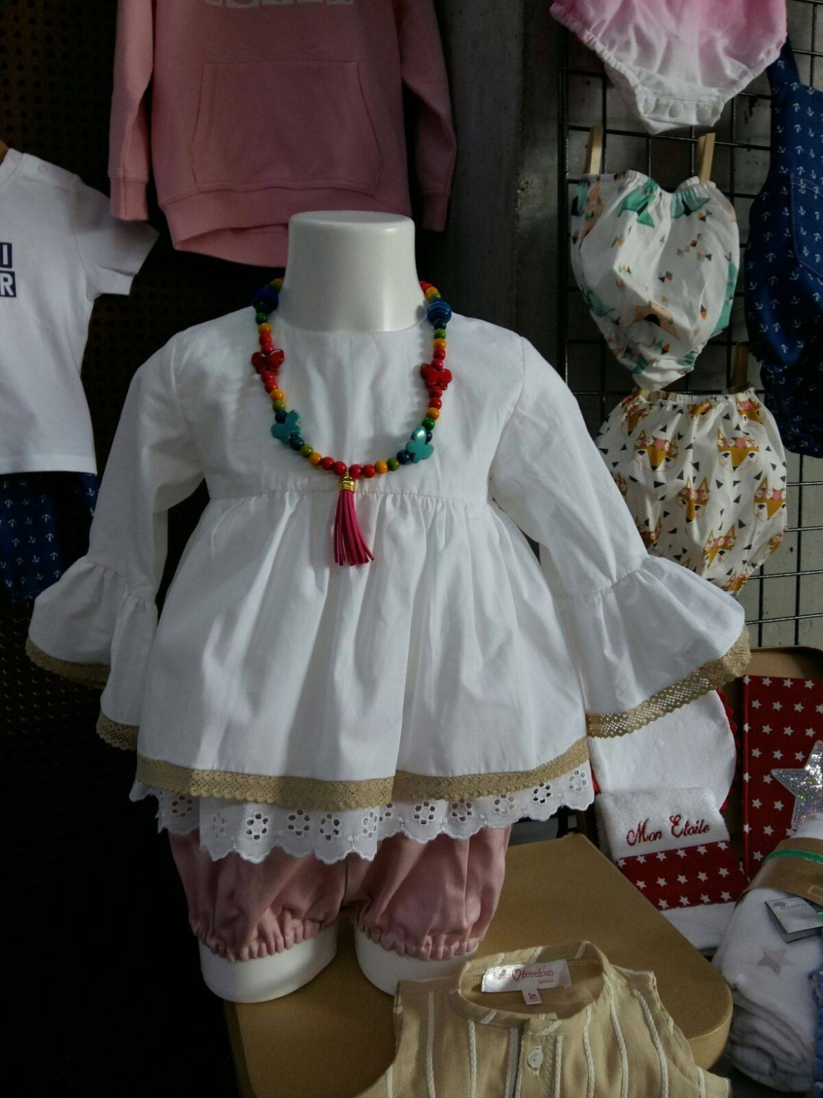 blusa de puntillas para niña, blusa mangas campana niña (1)
