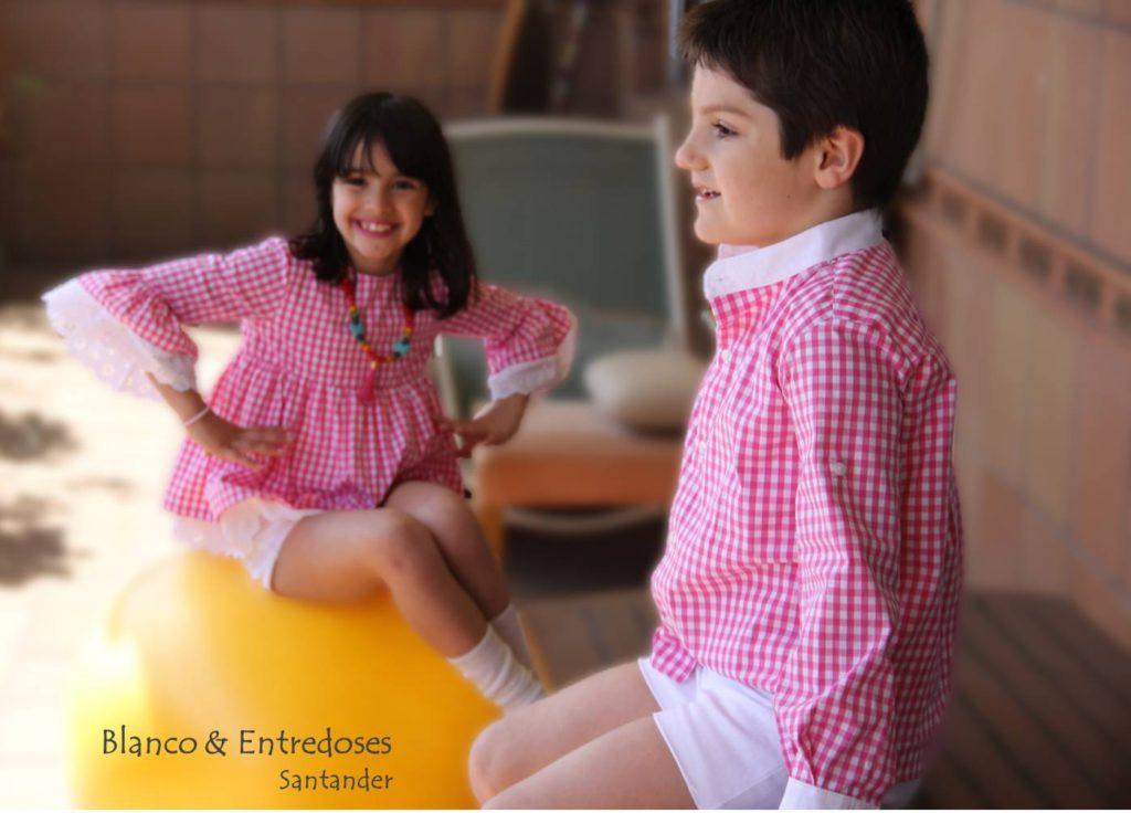 ropa hermanos iguales, camisa rosa niño, vichy rosa niños, ropa arras niños, camisa vichy rosa, hermanos conjuntados verano (1)