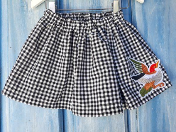 falda de vichy negra verano