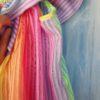 vestido con volante rainbow